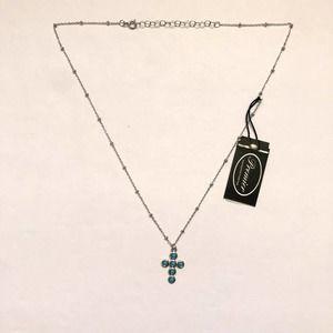 NWT Premier Designs Enlighten 925 Cross Necklace